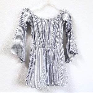 Revolve Striped Off Shoulder Mini Dress